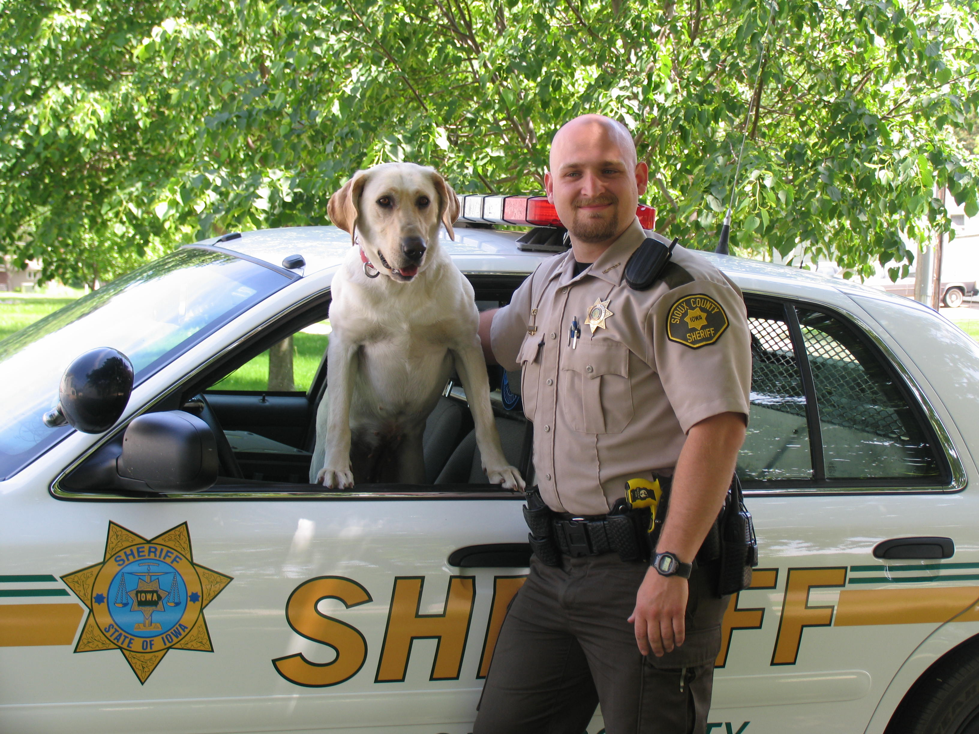 Deputy DeBruin and Molly