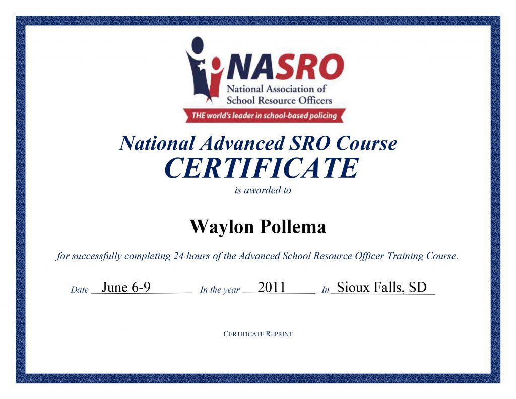 Advanced NASRO Certification