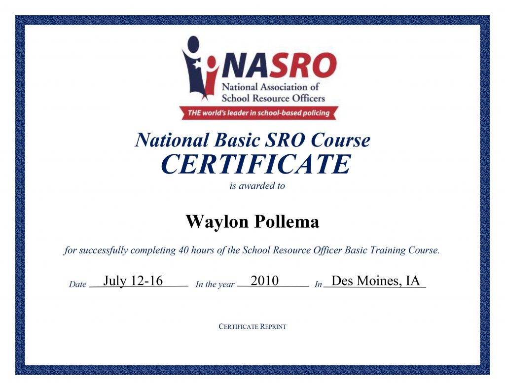 NASRO Basic Certification